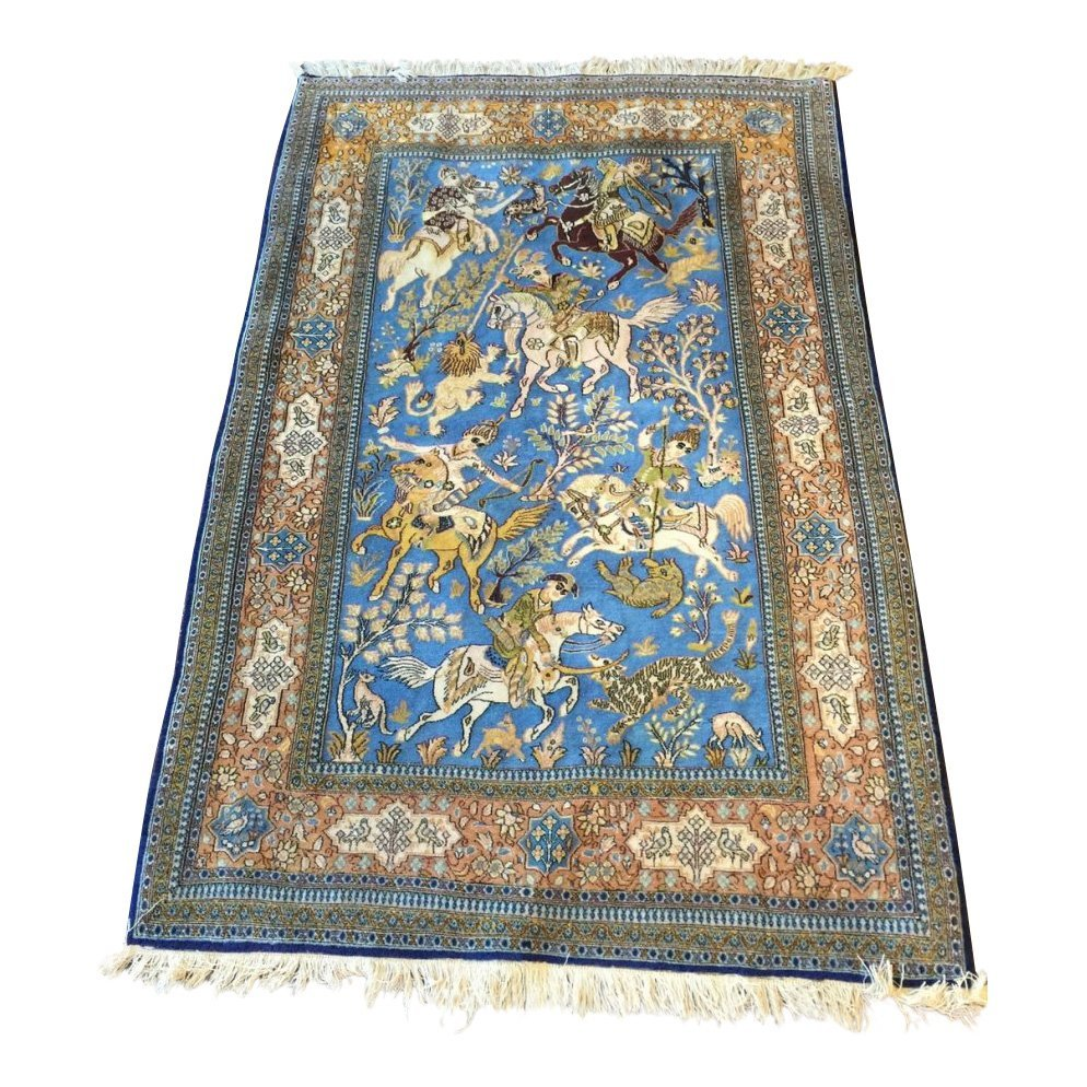 Iran Hunting Design Rug 4.8x7.3