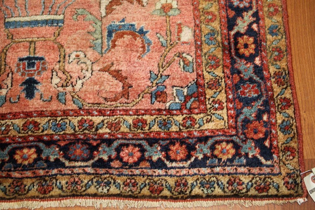 Handmade Antique Persian Sarouk 3x5 - 4