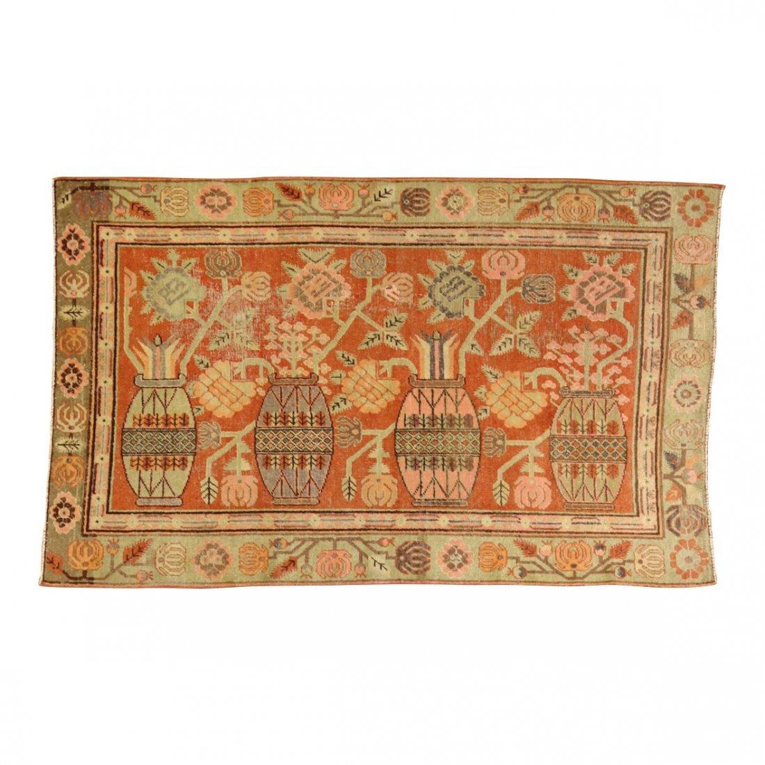 Handmade Antique Khotan 4.9x7.8