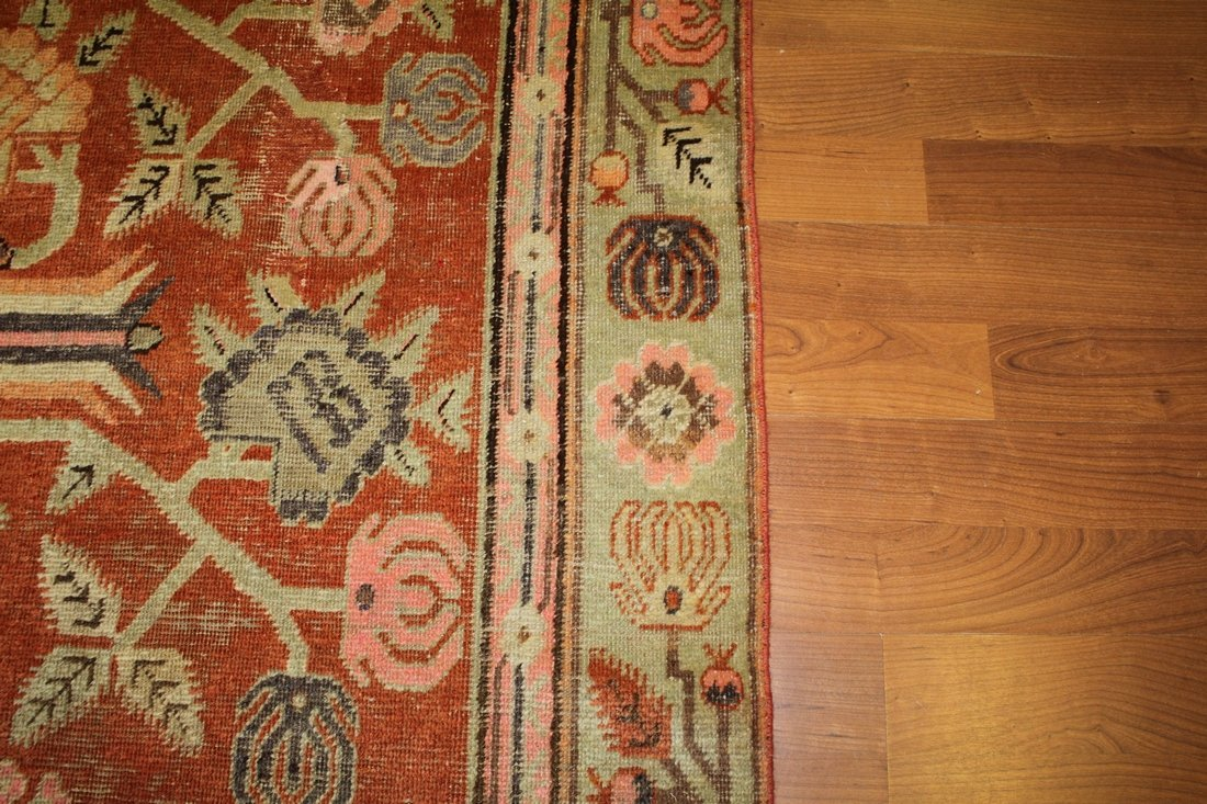 Handmade Antique Khotan 4.9x7.8 - 5