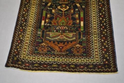 Handmade Semi-Antique Persian Balouch 3.9x6.7 - 3