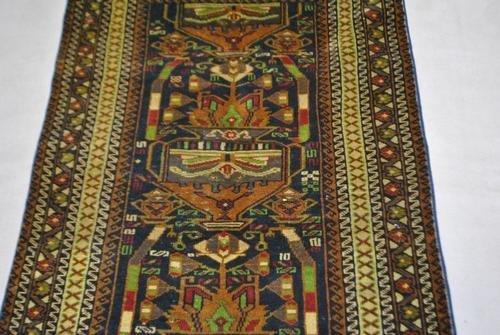 Handmade Semi-Antique Persian Balouch 3.9x6.7 - 4