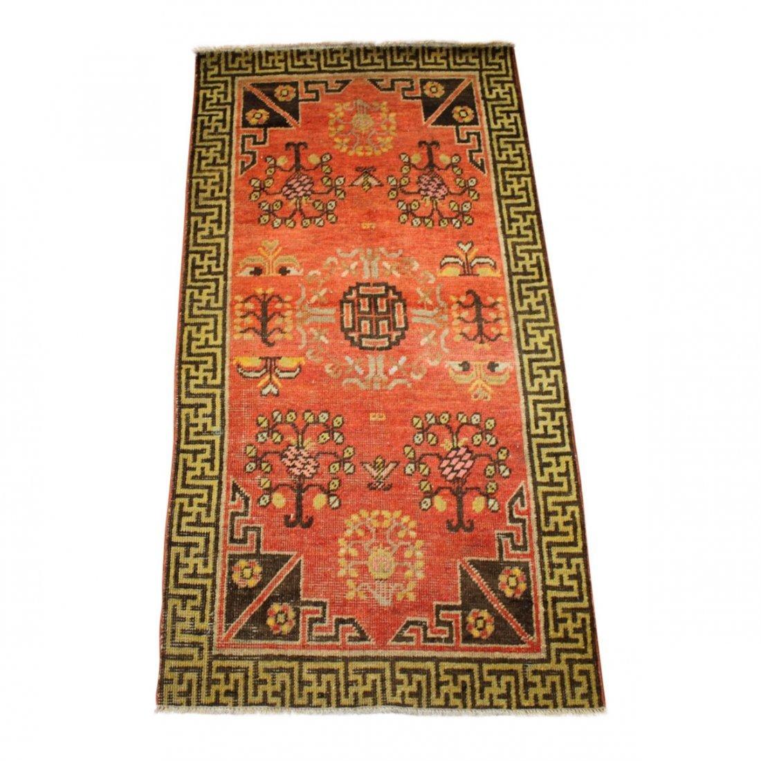 Handmade Antique Khotan 2.2x4.4