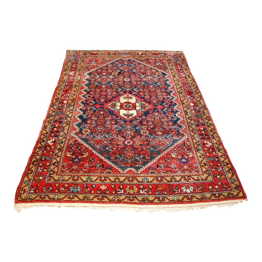 Antique Persian Malayer Rug 4.6x6.10
