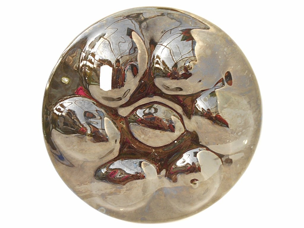St. Clement Green Majolica Oyster Plate - 5