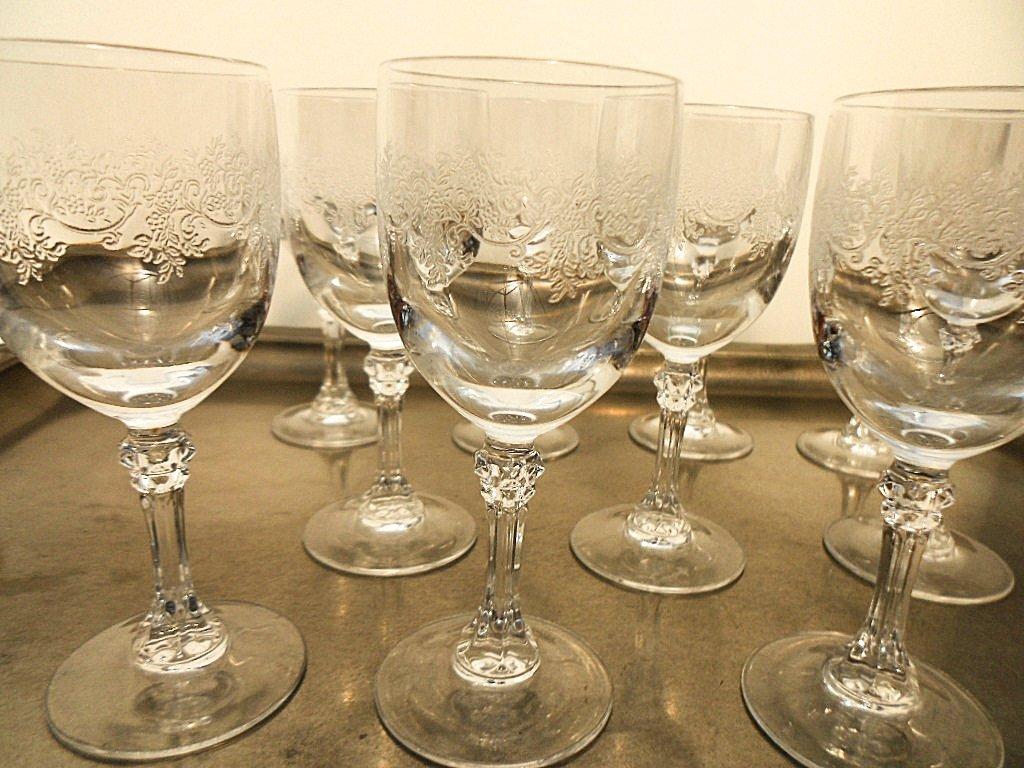 Set of 11 French Cristalin Liquor Glasses - 3