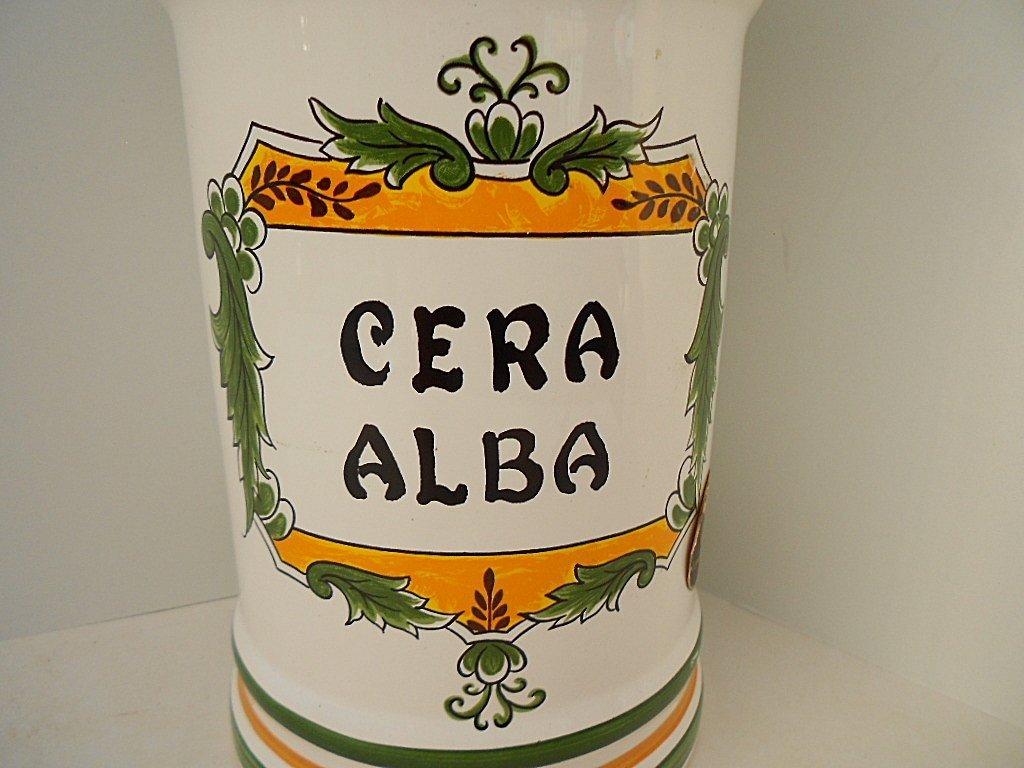Clamecy Cera Alba Faience Apothecary Jar - 2