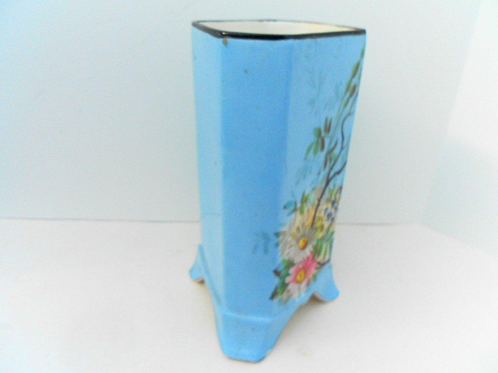 French Antique Porcelain Hand Painted Bird Floral Vase - 6