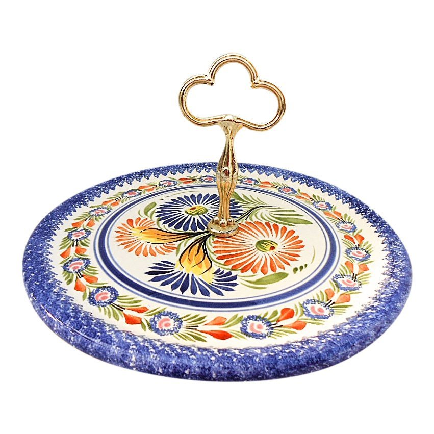 Henriot Quimper French Faience Cheese Board