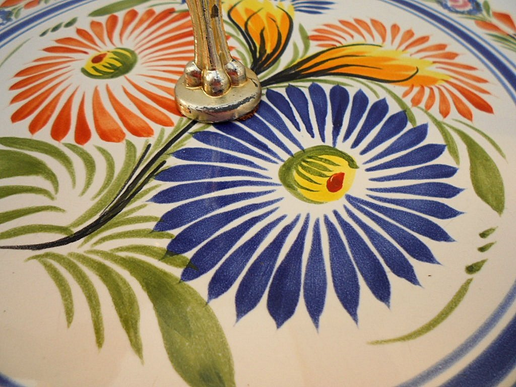Henriot Quimper French Faience Cheese Board - 3