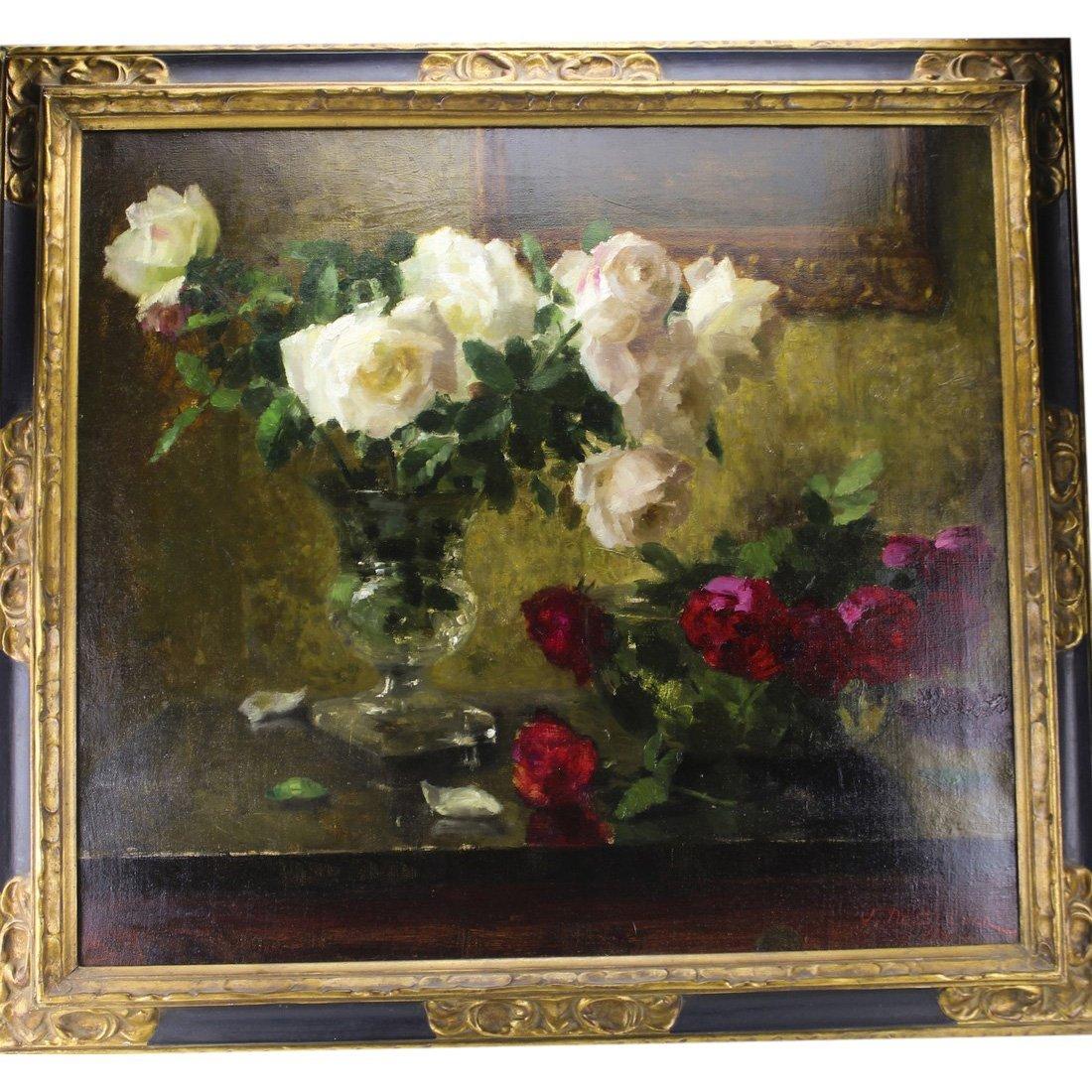 Joseph De Belder: Still Life Painting 19th C