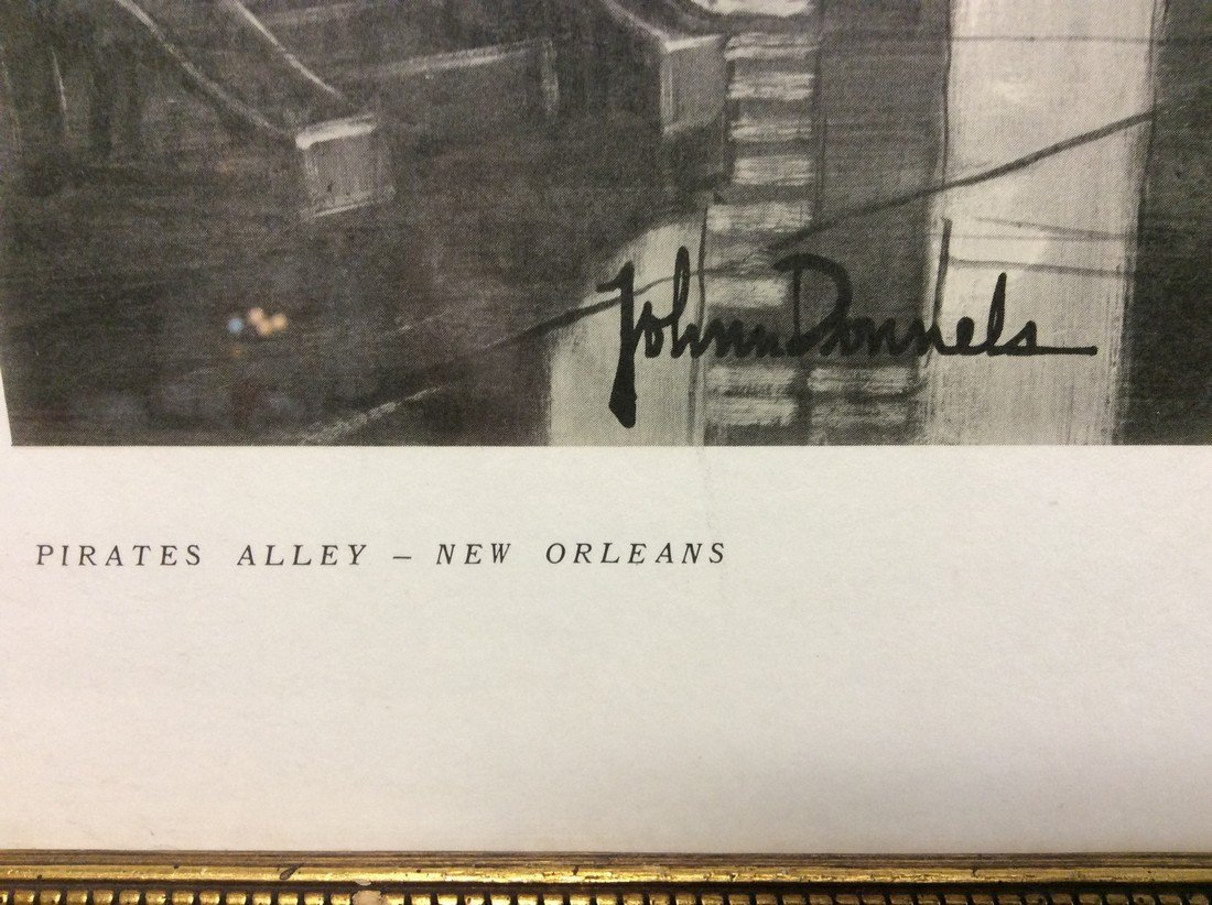 John Donnels: Print of Pirates Alley, 1960's - 3