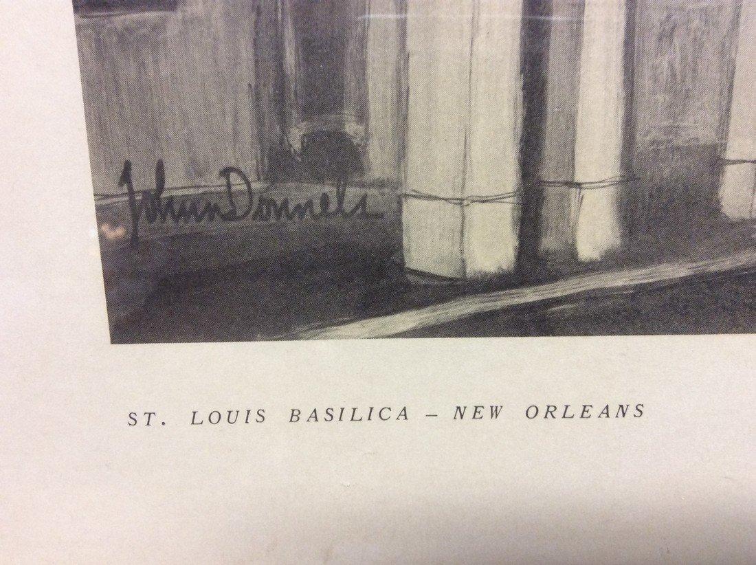 John Donnels: Print of St. Louis Basilica, 1960's - 3
