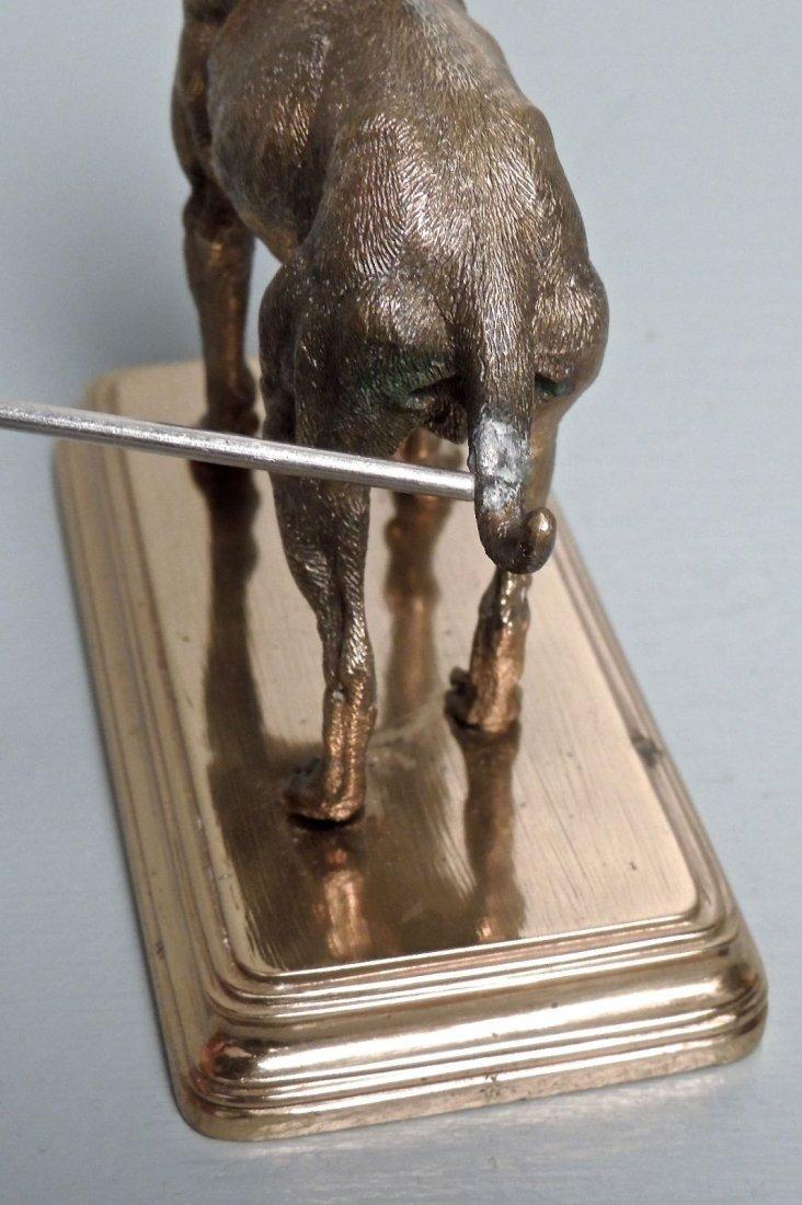 Alfred Dubucand: Gilt Bronze Terrier Dog Sculpture - 10