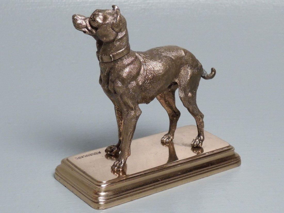Alfred Dubucand: Gilt Bronze Terrier Dog Sculpture - 4