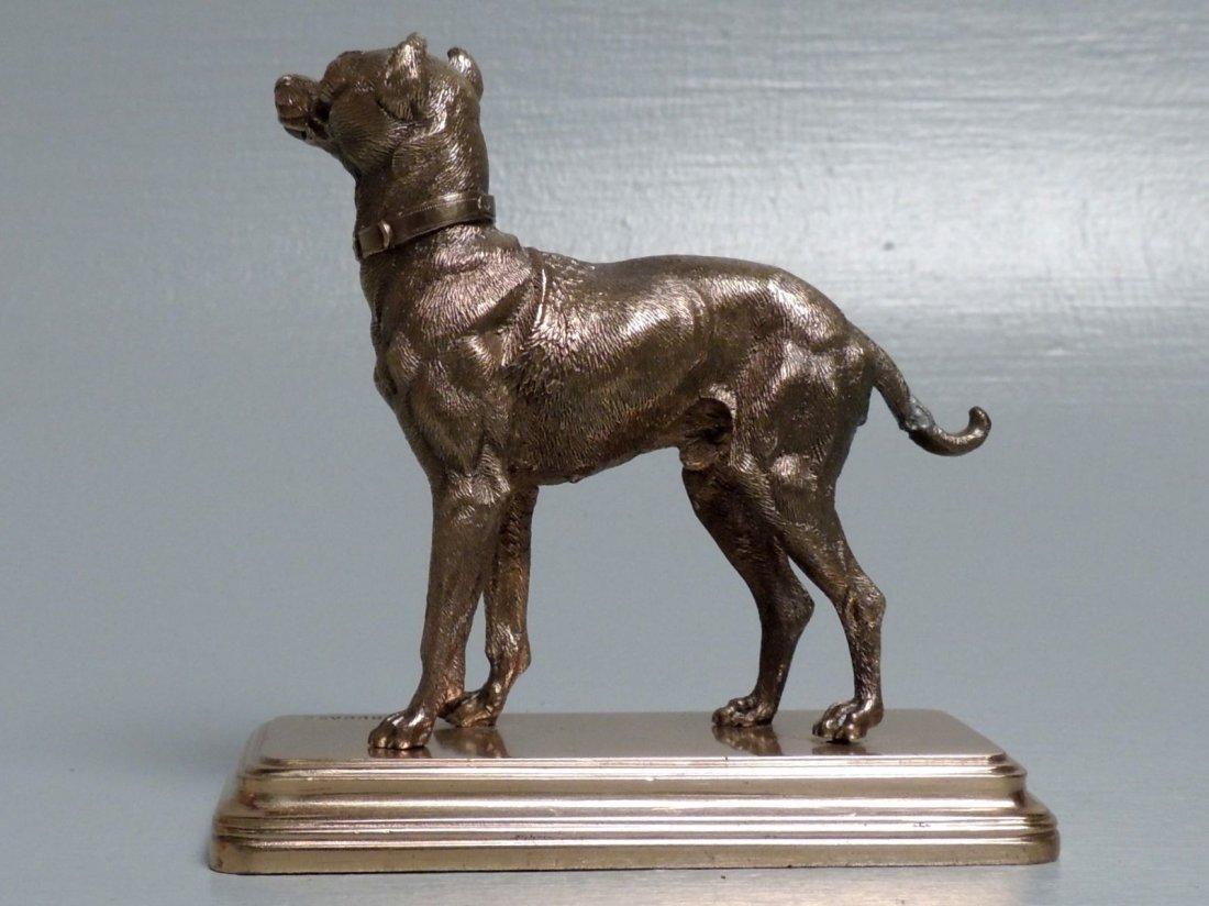 Alfred Dubucand: Gilt Bronze Terrier Dog Sculpture - 5