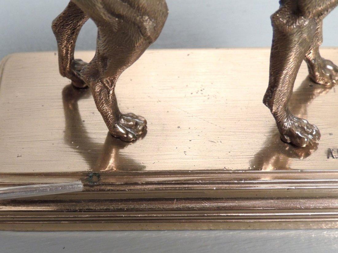 Alfred Dubucand: Gilt Bronze Terrier Dog Sculpture - 9