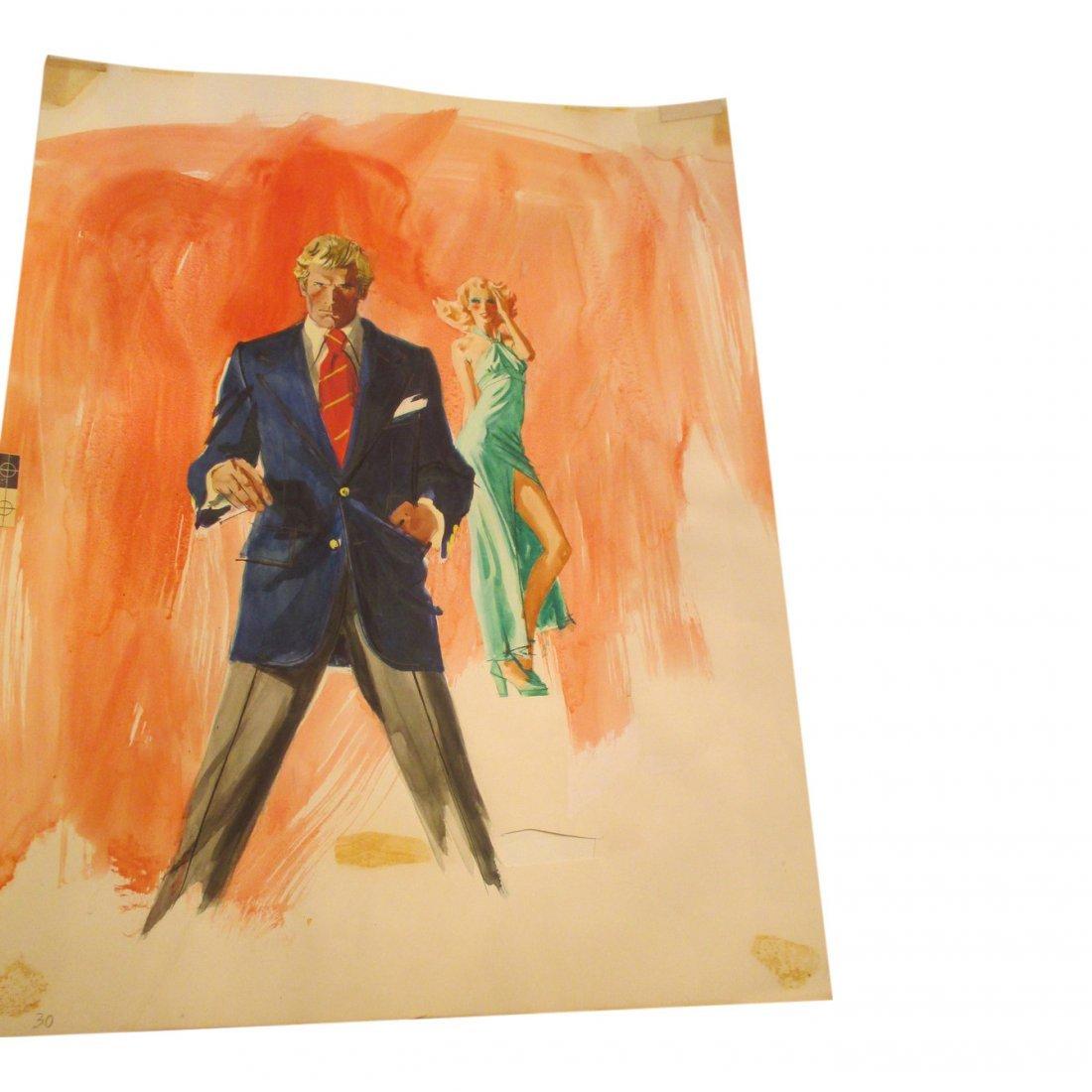 Man in Blue Jacket Watercolor