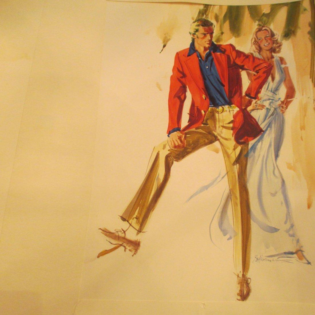 R & B Herrmaun: Red Jacket Tan Slacks
