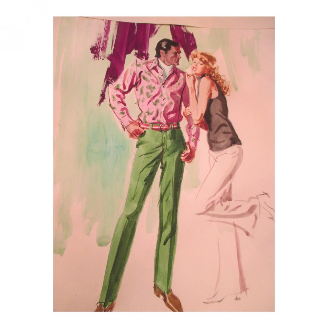 Green Slacks Watercolor