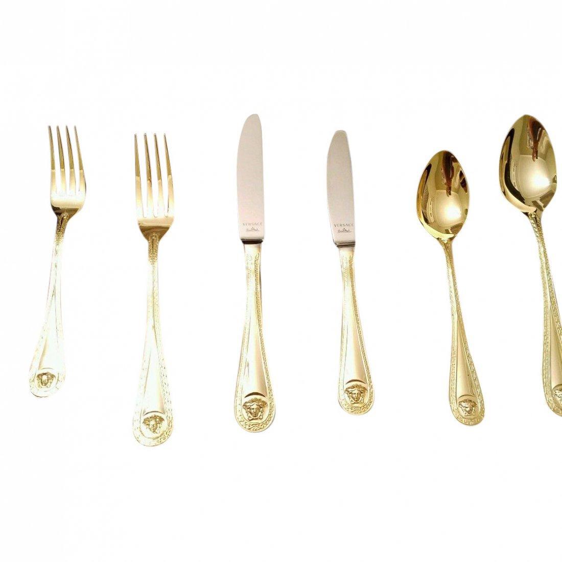 Set of 36 Versace for Rosenthal Medusa Gold Flatware