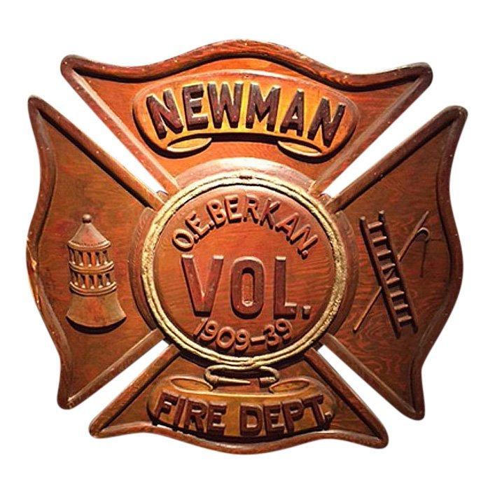Early 20th C Fireman's Commemorative Retirement Plaque
