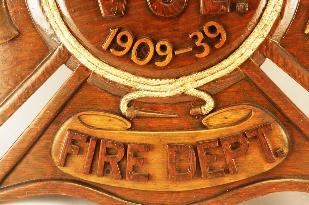 Early 20th C Fireman's Commemorative Retirement Plaque - 6