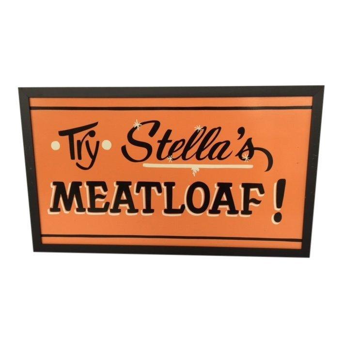 Hand-painted Fiberboard Roadside Diner Sign, 1950s