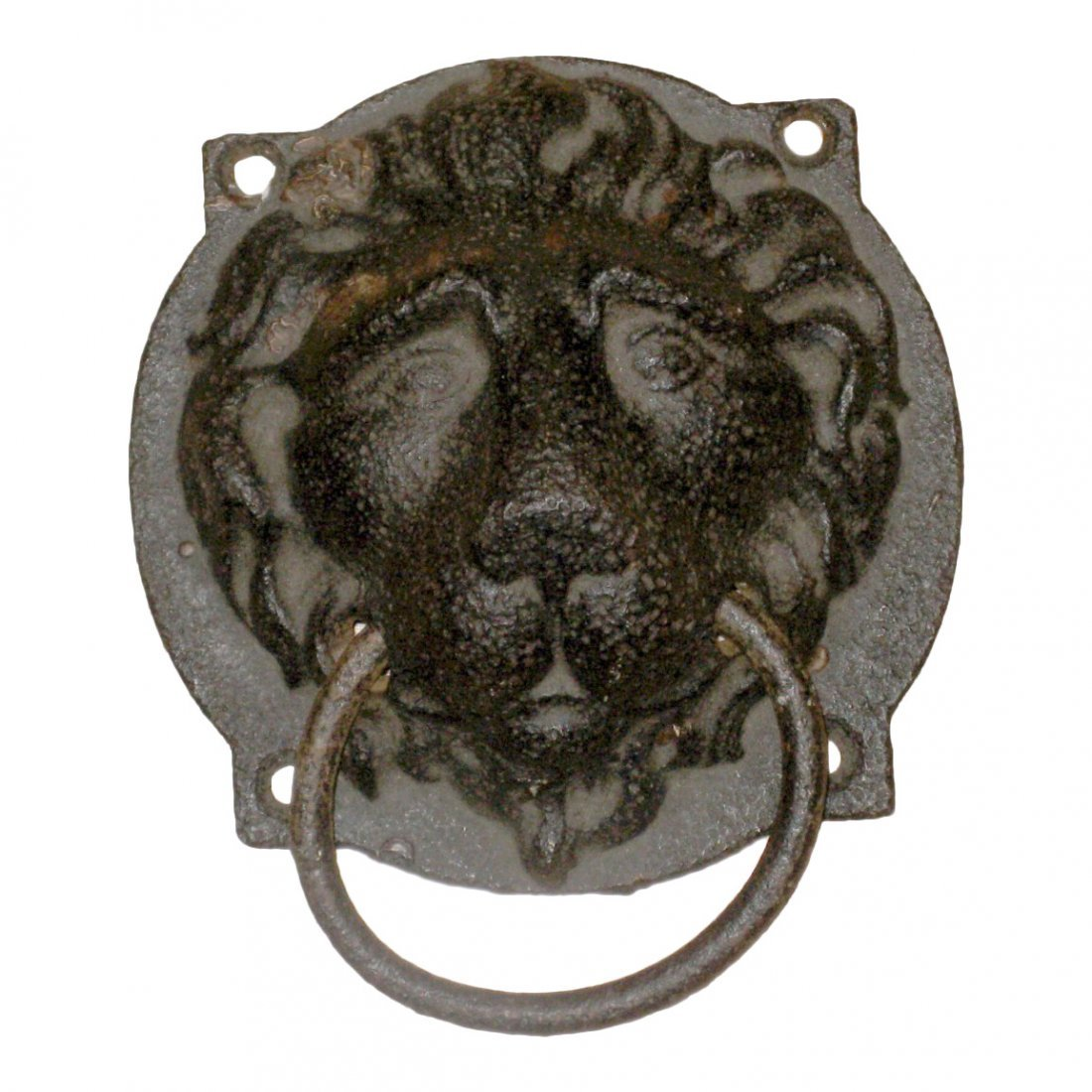 19th C Cast Iron Lion Hitching Ring