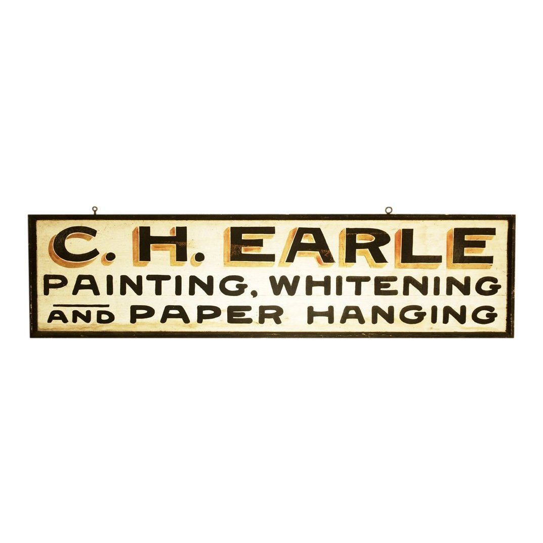 Late 19th C Painter Trade Sign