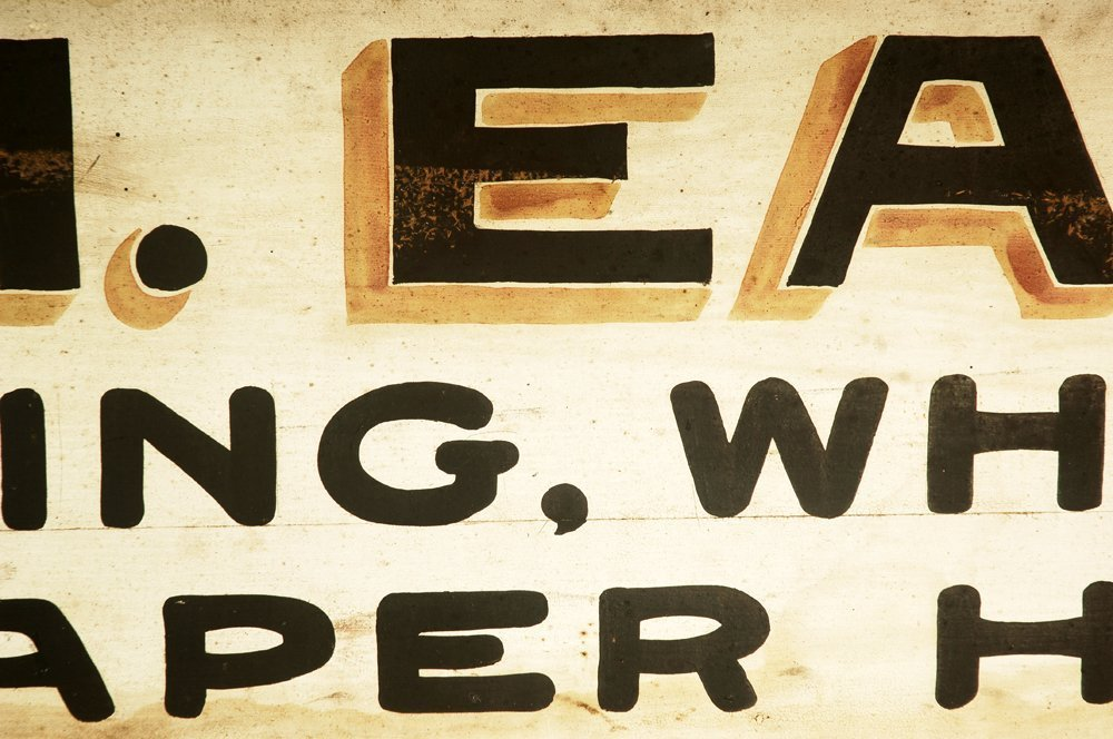 Late 19th C Painter Trade Sign - 5
