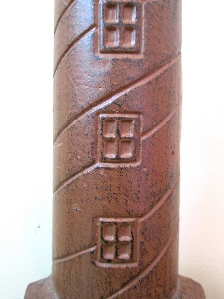 Early 20th C Cast Iron Lighthouse Doorstop - 3