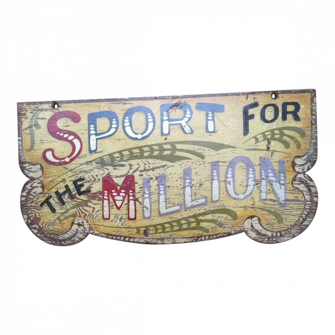 1910 Polychrome Carnival Arcade Sign