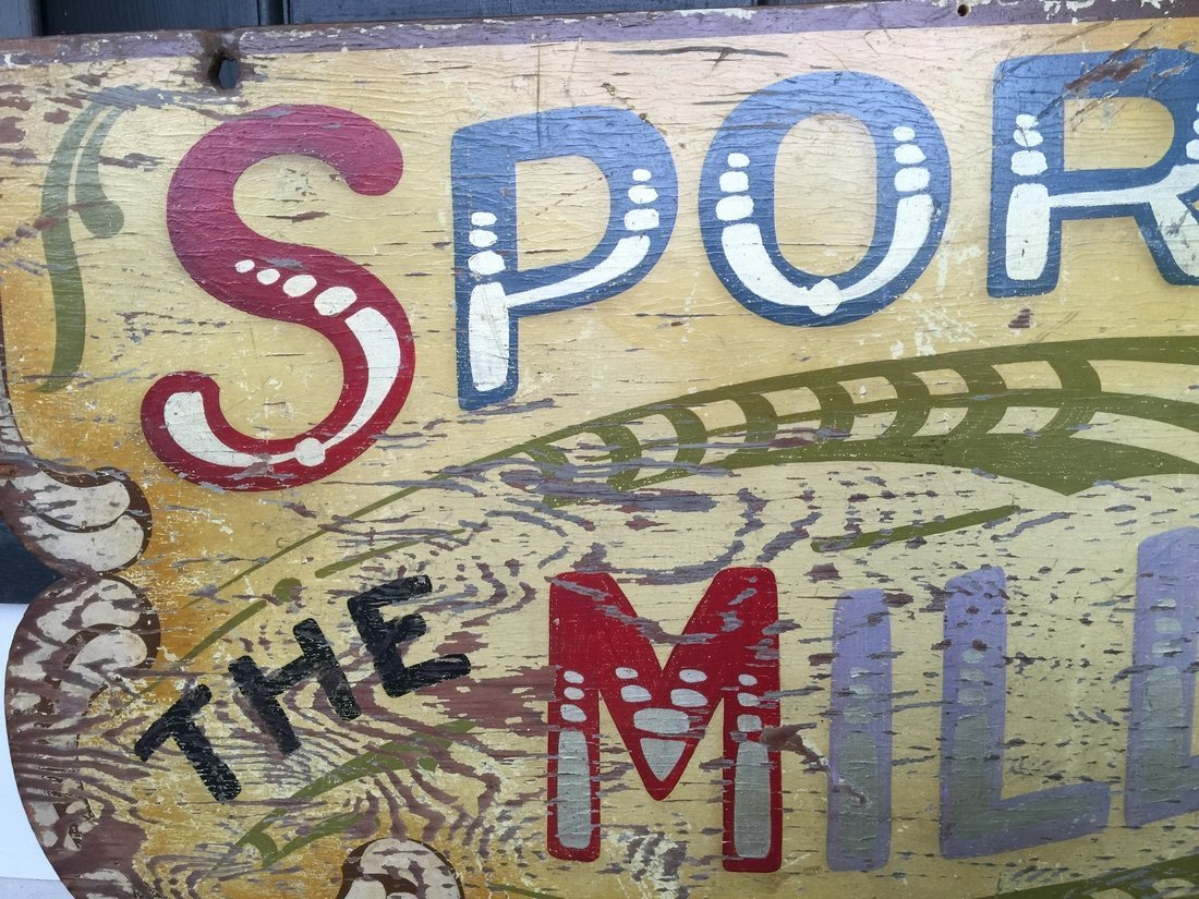 1910 Polychrome Carnival Arcade Sign - 2