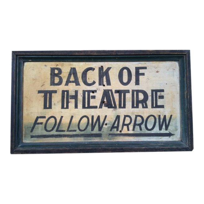 1920 Theatre Trade Sign