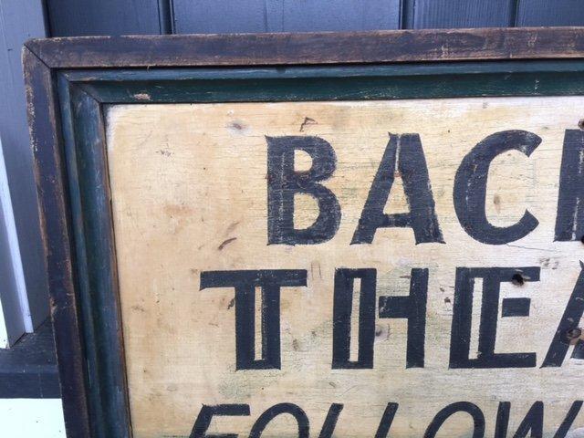 1920 Theatre Trade Sign - 2