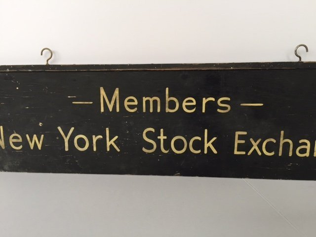 Wood Double Sided NYSE Sign, 1940s - 3