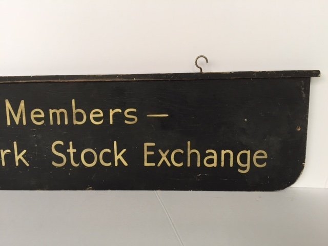 Wood Double Sided NYSE Sign, 1940s - 4