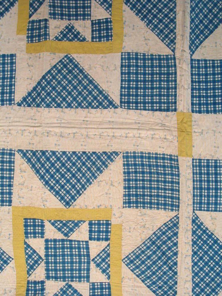 20th C Rising Star Pieced Quilt - 2