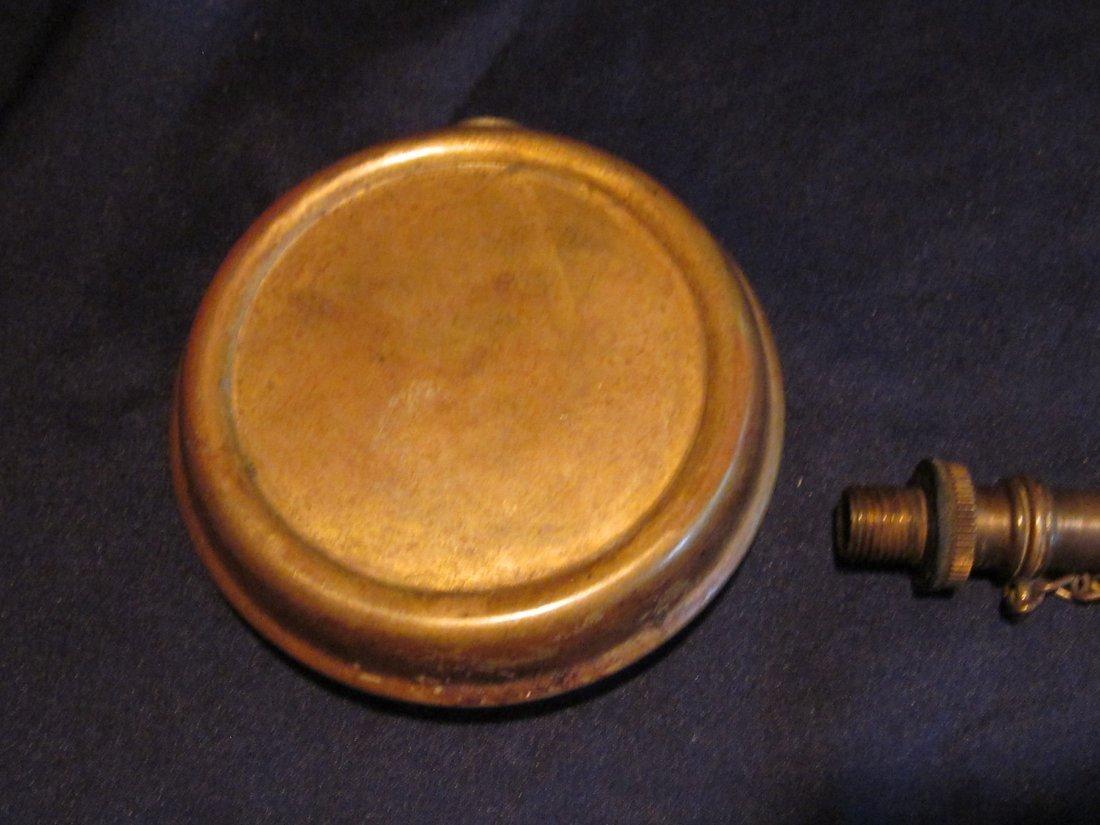 Early 20th C Powder Flask - 5