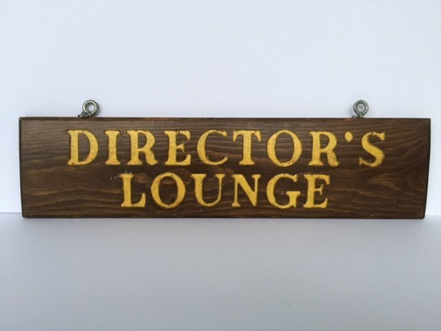 Double Sided Wood Sign, 1940s - 2