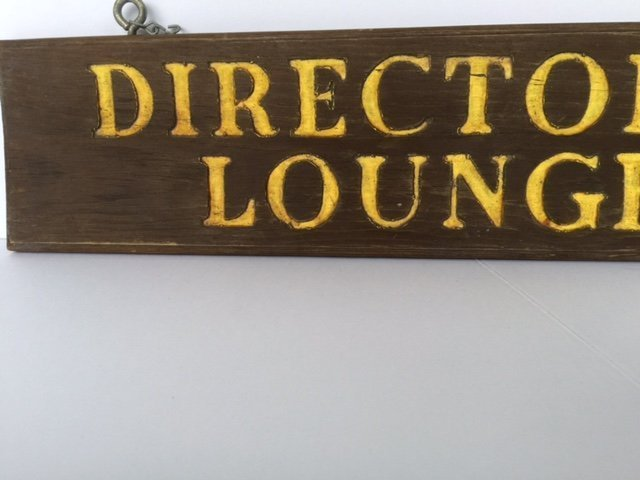 Double Sided Wood Sign, 1940s - 3