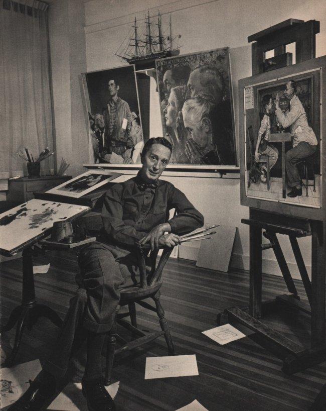 Yousuf Karsh: Norman Rockwell