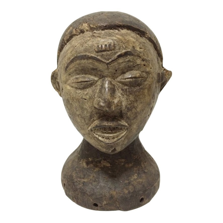 Igbo Double Head Statue
