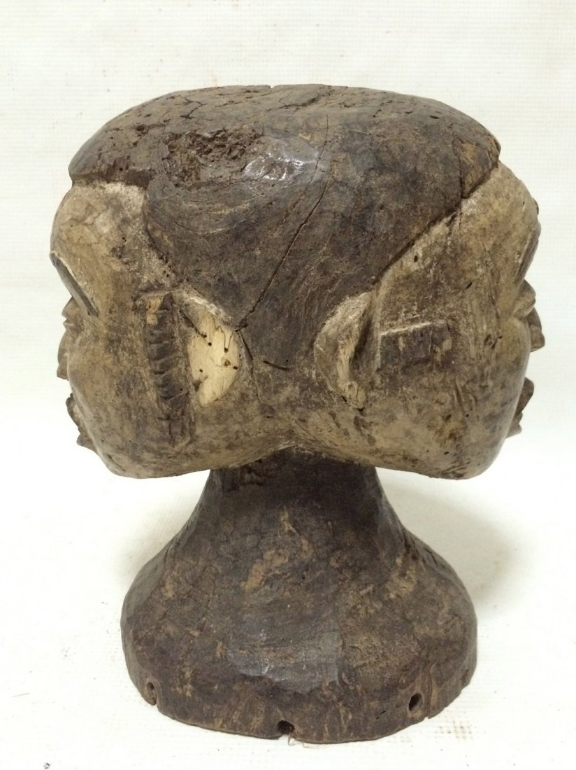Igbo Double Head Statue - 4