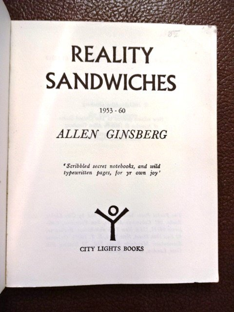 Allen Ginsberg: Reality Sandwiches, 1967 - 2