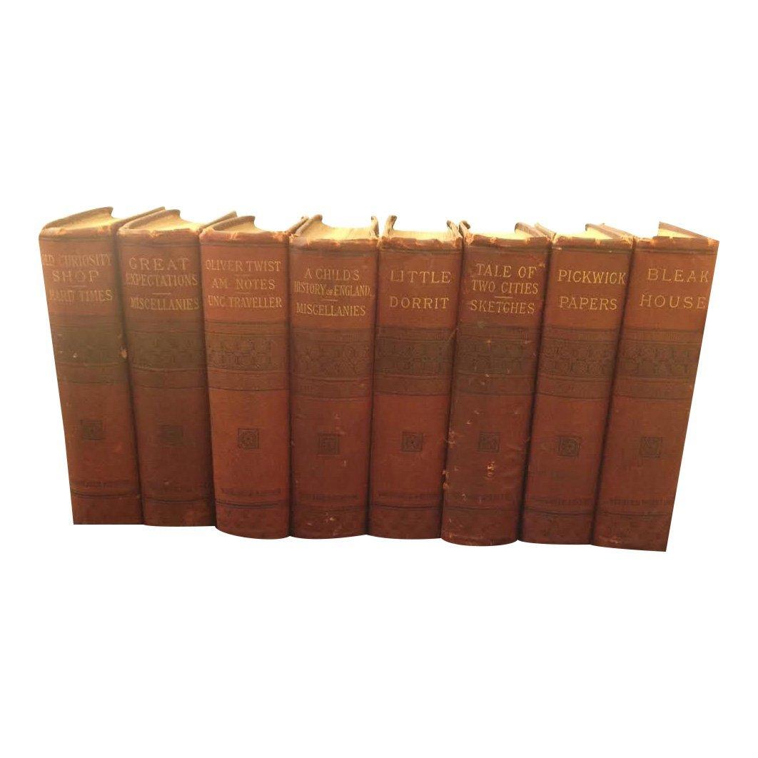Charles Dickens: Rare Set of 8 Books, 1866