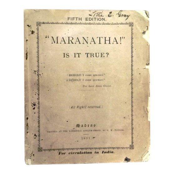 Madras: Marantha! Is It True?, 1891