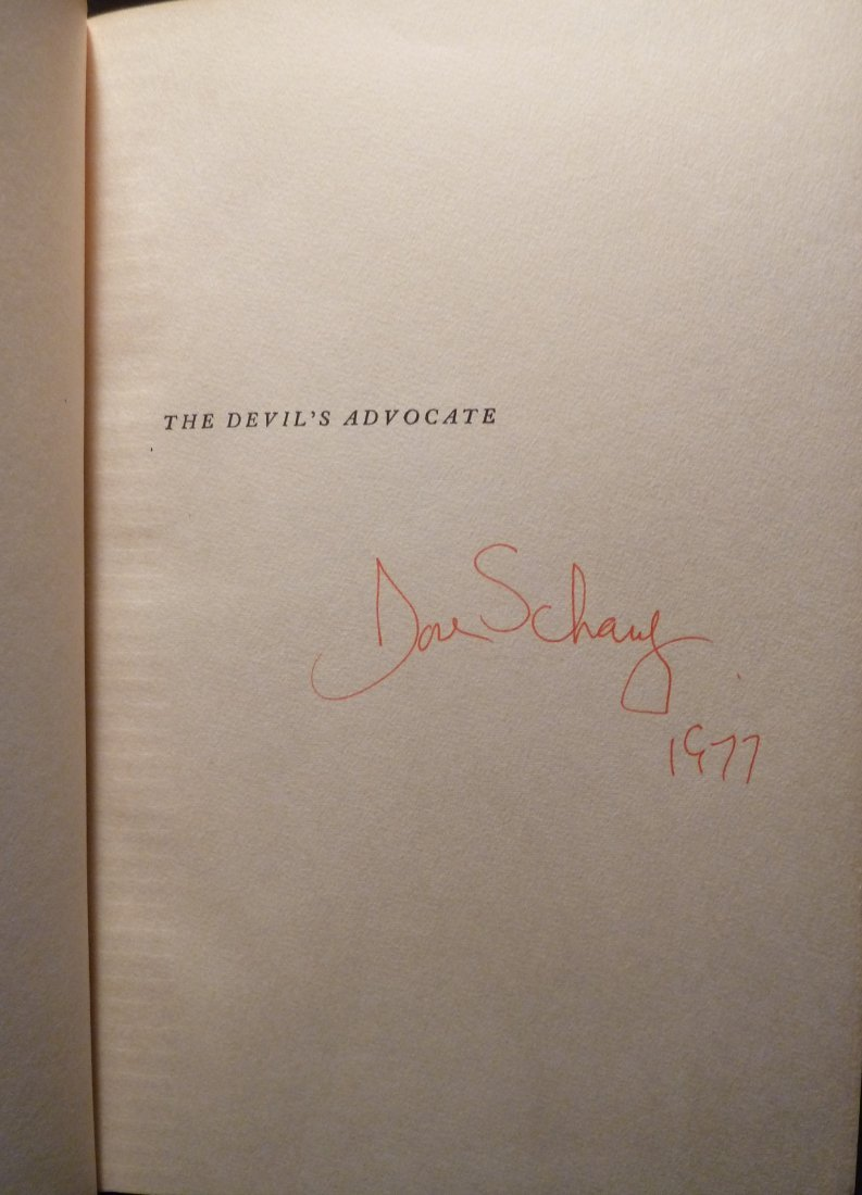 Dore Schary: The Devil's Advocate - Signed - 2