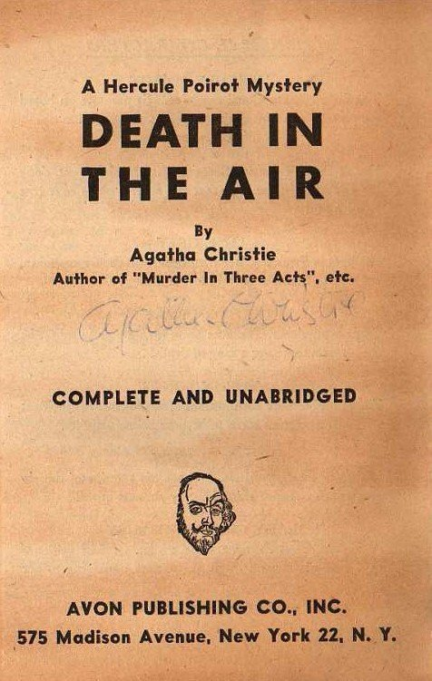 Agatha Christie: Death In The Air - Signed